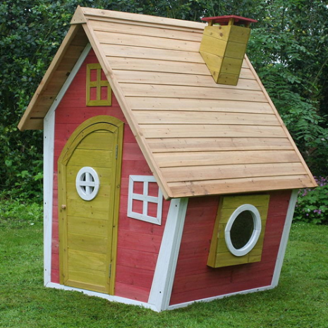 Wooden Pink Girls Crazy Cottage Playhouse